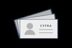 """Wizytówki mały nakład <br /><span class=""""small"""">(druk cyfrowy)</span>"""